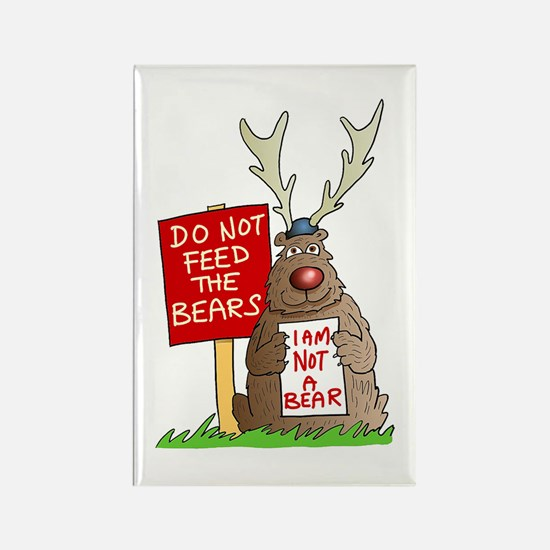 Do Not Feed the Bears Rectangle Magnet