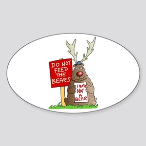 Do Not Feed the Bears Oval Sticker