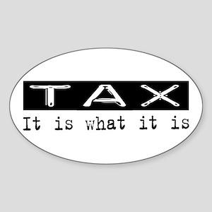 Tax Is Oval Sticker