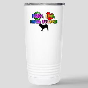 Hippie English Bulldog Stainless Steel Travel Mug