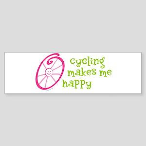 Happy Cycling Bumper Sticker