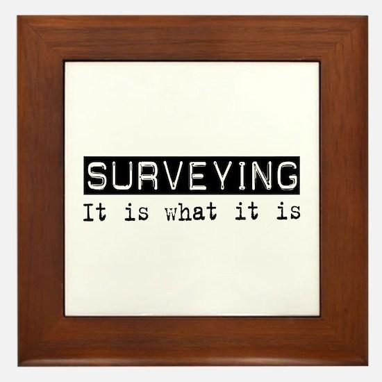 Surveying Is Framed Tile