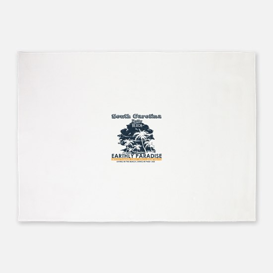 South Carolina - Folly Beach 5'x7'Area Rug