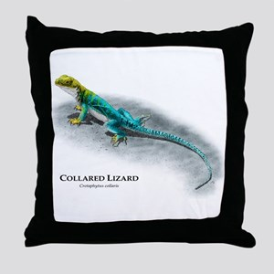 Collared Lizard Throw Pillow