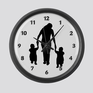 Mother and Children Large Wall Clock