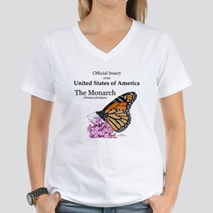 Monarch Butterfly Women's V-Neck T-Shirt