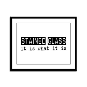 Stained Glass Is Framed Panel Print