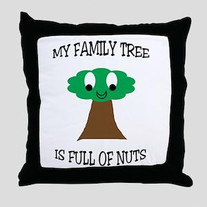 Family Tree Throw Pillow