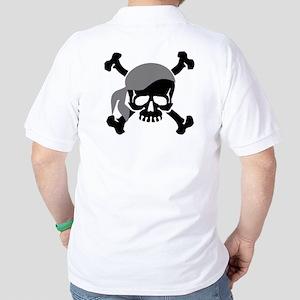 Skull and Crossbones II Gray Golf Shirt
