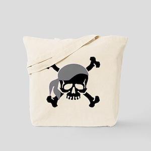 Skull and Crossbones II Gray Tote Bag