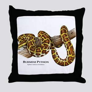 Burmese Python Throw Pillow