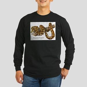 Burmese Python Long Sleeve Dark T-Shirt