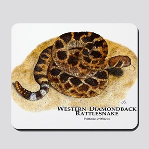 Western Diamondback Rattlesna Mousepad