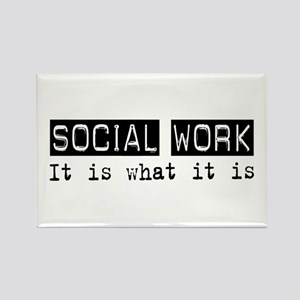 Social Work Is Rectangle Magnet (10 pack)
