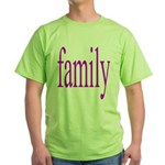 319.family, baby, parents Green T-Shirt