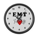 EMT For Life Large Wall Clock
