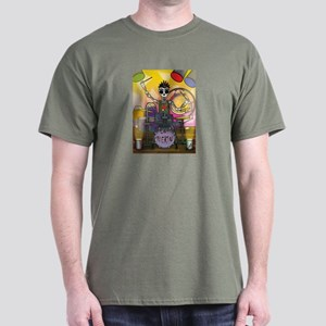 Day of the Dead Skeleton Drummer T-Shirt