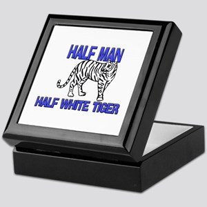 Half Man Half White Tiger Keepsake Box