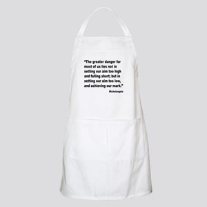 Michelangelo Greater Danger Quote BBQ Apron