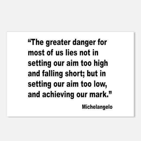 Michelangelo Greater Danger Quote Postcards (Packa