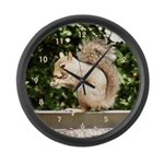 Squirrel Smiling Large Wall Clock