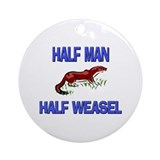 Weasel Round Ornaments