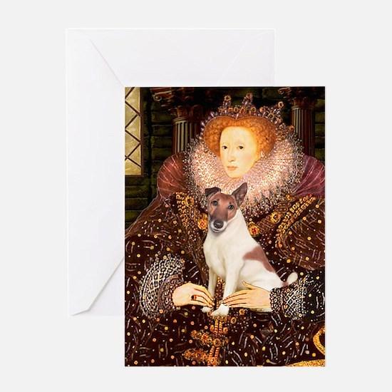 Queen/Fox Terrier (#S4) Greeting Card