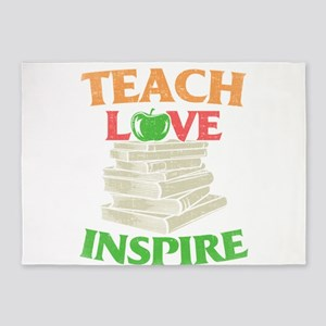 Teacher Teach Love Inspire 5'x7'Area Rug