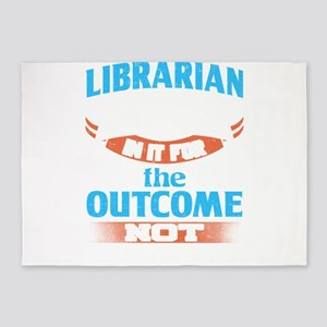 Teacher Librarian In It For The Out 5'x7'Area Rug