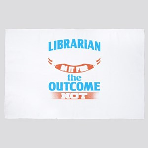Teacher Librarian In It For The Outcom 4' x 6' Rug