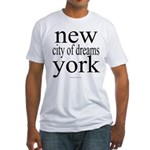 367 york city of dreams.. Fitted T-Shirt