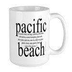 367. pacific beach Large Mug