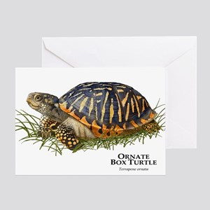 Ornate Box Turtle Greeting Card
