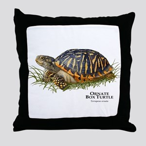 Ornate Box Turtle Throw Pillow