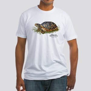 Ornate Box Turtle Fitted T-Shirt
