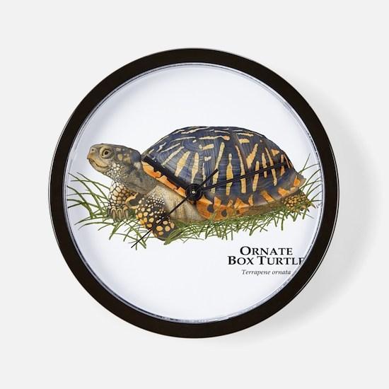 Ornate Box Turtle Wall Clock