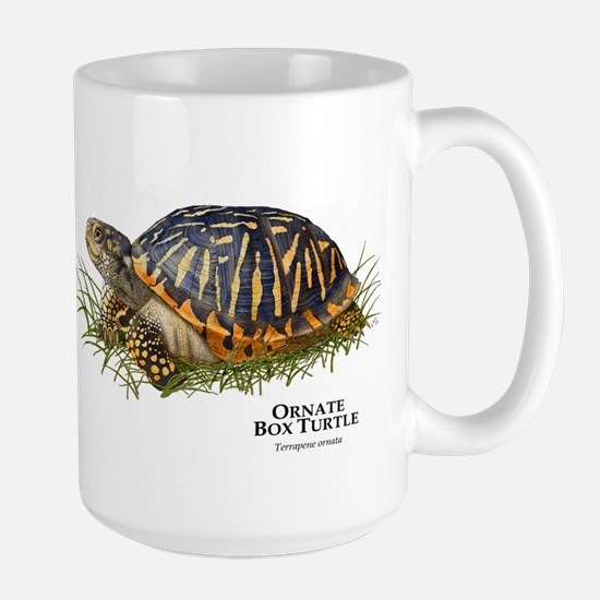 Ornate Box Turtle Large Mug