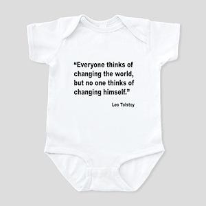 Tolstoy Change Quote Infant Bodysuit