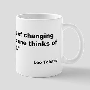 Tolstoy Change Quote Mug