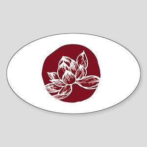 Awake DBT white lotus on burgundy Sticker