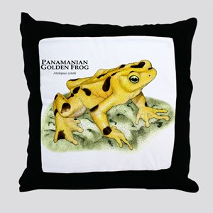 Panamanian Golden Frog Throw Pillow