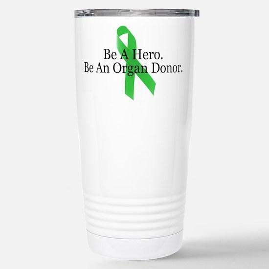 Bold Organ Donor Stainless Steel Travel Mug