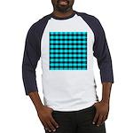 Blue Optical Illusion Baseball Jersey