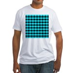 Blue Optical Illusion Fitted T-Shirt