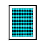 Blue Optical Illusion Framed Panel Print