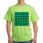 Blue Optical Illusion Green T-Shirt