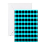 Blue Optical Illusion Greeting Cards (Pk of 10)