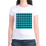 Blue Optical Illusion Jr. Ringer T-Shirt