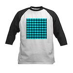 Blue Optical Illusion Kids Baseball Jersey