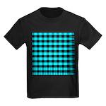 Blue Optical Illusion Kids Dark T-Shirt